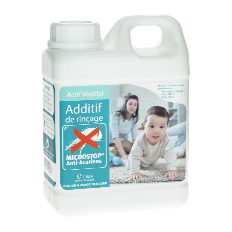 Additif de rincage anti-acariens, MICROSTOP, flacon de 1L